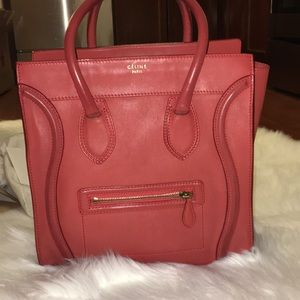 Celine Mini in lipstick red